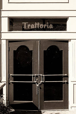 Trattoria Door Palm Springs Poster by William Dey