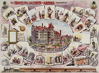 Traveling Salesmen Of America  Poster by Georgia Fowler