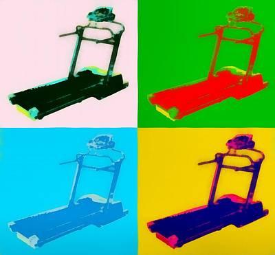 Treadmill Pop Art Poster by Dan Sproul