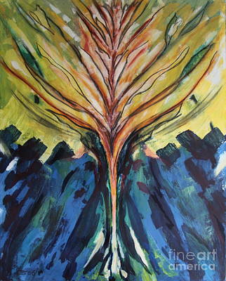 Tree Of Life - Abstract Painting Poster by Christiane Schulze Art And Photography