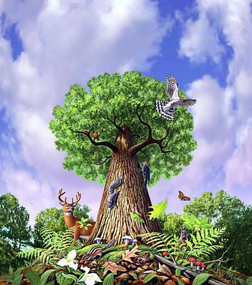 Tree Of Life Poster by Jerry LoFaro