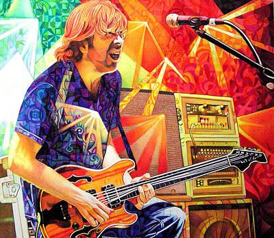 Trey Anastasio Squared Poster by Joshua Morton