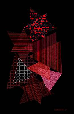 Triangles Combination Poster by Mario Perez