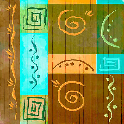 Tribal Abstract Poster by Brenda Bryant