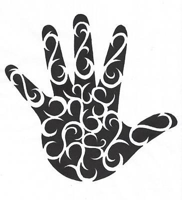 Tribal Hand Poster by Jennifer Kimberly
