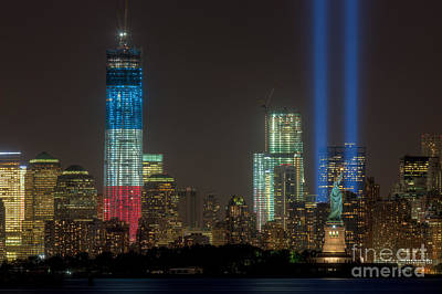 Tribute In Light Xiii Poster by Clarence Holmes
