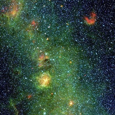 Trifid Nebula Poster by Nasa/jpl-caltech/ucla