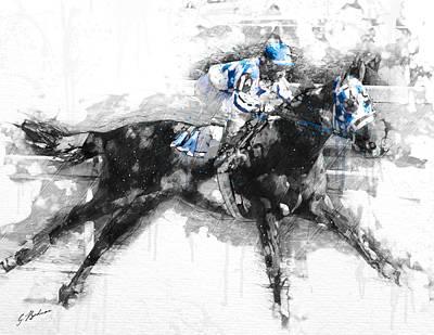 Secretariat Triple Crown 73 Poster by Gary Bodnar