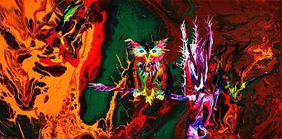 Trippy Owl Poster by Devon  Ingram