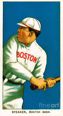 Tris Speaker Boston Red Sox Baseball Card 0520 Poster by Wingsdomain Art and Photography