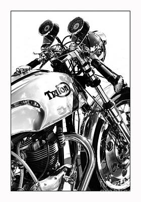 Triton Motorcycle Poster by Tim Gainey