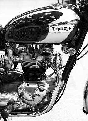 Triumph Bonneville Poster by Tim Gainey