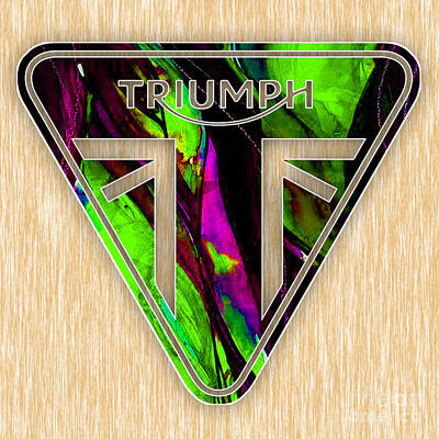 Triumph Motorcycle Badge Poster by Marvin Blaine