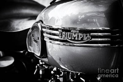 Triumph Tiger T110 Motorcycle Poster by Tim Gainey