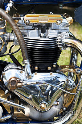 Triumph Trophy Engine Poster by Tim Gainey