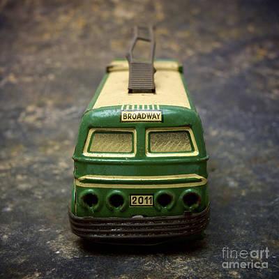 Trolley Bus Toy Poster by Bernard Jaubert