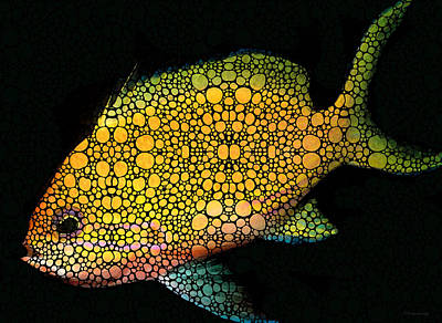 Tropical Fish Art 14 By Sharon Cummings Poster by Sharon Cummings