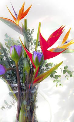 Tropical Flowers Poster by John  Bartosik