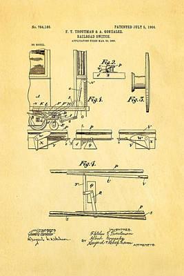 Troutman And Gonzalez Railroad Switch Patent Art 1904 Poster by Ian Monk