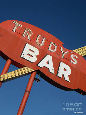 Trudy's Bar Poster by Jim Zahniser