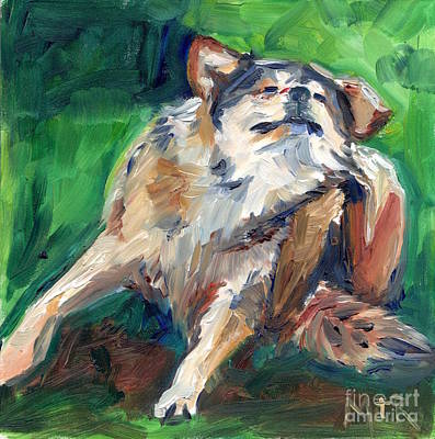 Truth Wolf In Oil Paint Poster by Maria's Watercolor
