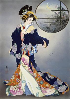 Tsukiakari Poster by Haruyo Morita