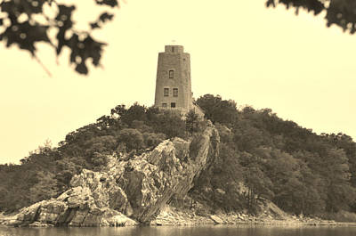 Tucker Tower Sepia Poster by Vonda Barnett