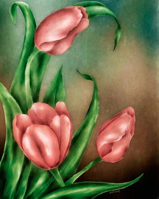 Tulip Trio Poster by Brenda Bryant