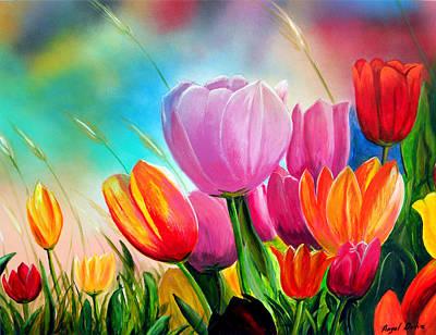 Tulipa Festivity Poster by Angel Ortiz