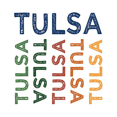Tulsa Cute Colorful Poster by Flo Karp