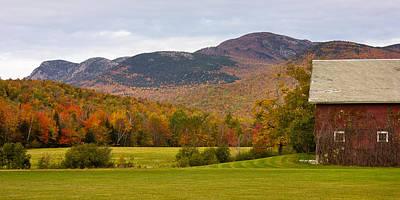 Tumbledown Mountain In The Fall Poster by Benjamin Williamson