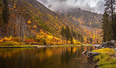 Tumwater Canyon Fall Serenity Poster by Mike Reid