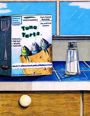 Tuna Tarts Poster by Karen Rhodes