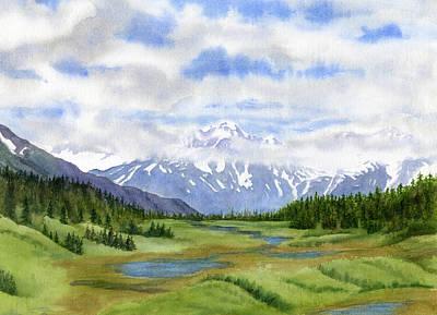 Turnagain Pass Mountain View Poster by Sharon Freeman