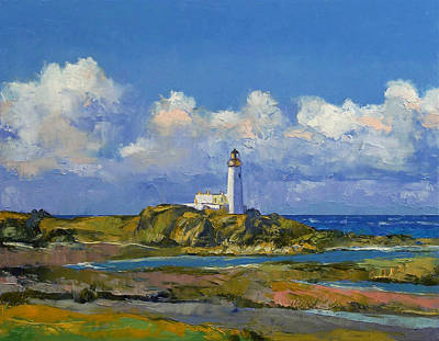 Turnberry Lighthouse Poster by Michael Creese