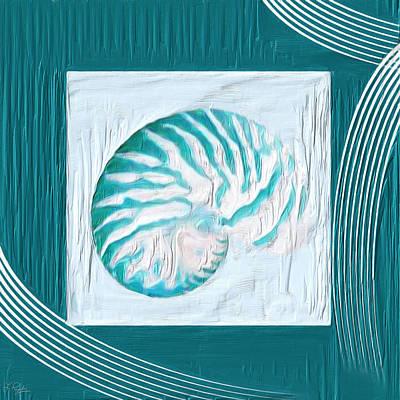 Turquoise Seashells Xxi Poster by Lourry Legarde