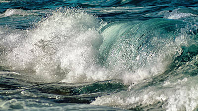 Turquoise Waves Poster by Stelios Kleanthous