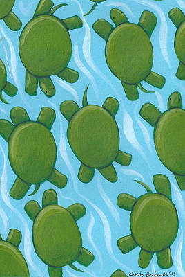 Turtle Nursery Art Poster by Christy Beckwith