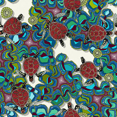 Turtle Reef Poster by Sharon Turner