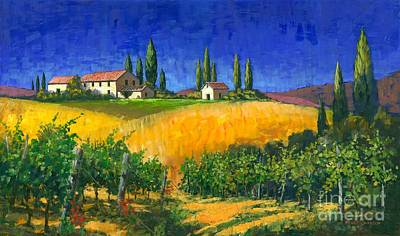 Tuscan Evening Poster by Michael Swanson