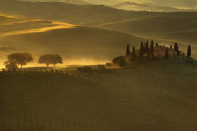 Tuscan Farmhouse Poster by Andrew Soundarajan
