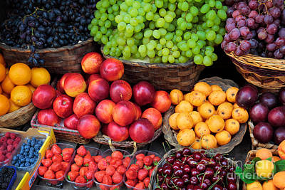 Tuscan Fruit Poster by Inge Johnsson