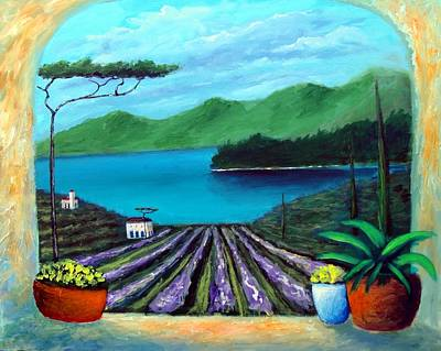 Tuscan Panorama Poster by Larry Cirigliano