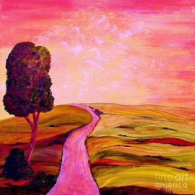 Tuscan Skies ... An Impressionist View Poster by Eloise Schneider