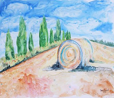 Tuscany On My Mind Poster by Shaina Stinard