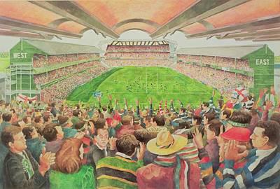Twickenham The Pilkington Cup Final, 1992 Wc Poster by Gareth Lloyd Ball