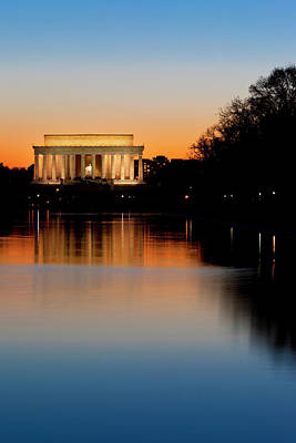 Twilight At The Lincoln Memorial Poster by Brian Jannsen