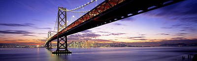 Twilight, Bay Bridge, San Francisco Poster by Panoramic Images