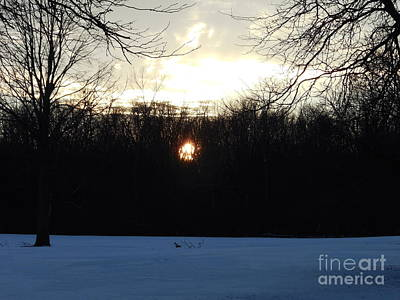 Twilight's Hiding Sun Poster by Jane Butera Borgardt