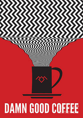 Twin Peaks Damn Good Coffee Poster by Dean Sauls